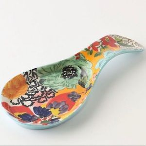 Anthro Painted Amaryllis Spoon Rest